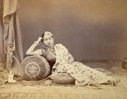 Girl wearing jewellery, from the Bengal collection at the International Exhibition of 1872